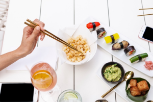 Popcorn Tempura and Vegan Sushi from Sunset by Australasia